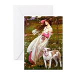 Windflowers / Pitbull Greeting Cards (Pk of 20)