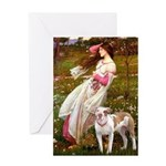 Windflowers / Pitbull Greeting Card