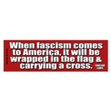 Sinclair Lewis on Fascism Bumper Car Sticker