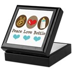 Peace Love Bottle Keepsake Box