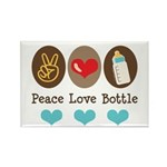 Peace Love Bottle Rectangle Magnet