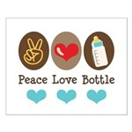 Peace Love Bottle Small Poster