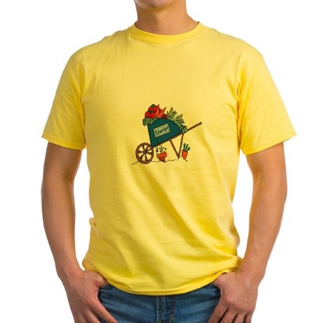 Garden Vegetable Cart Yellow T-Shirt