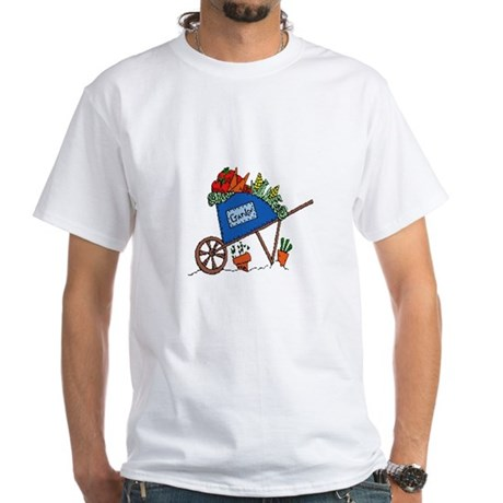 Garden Vegetable Cart White T-Shirt
