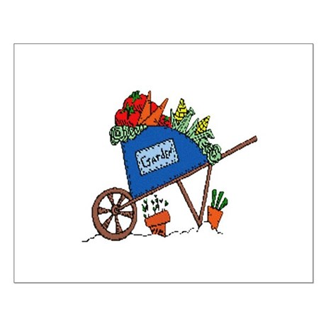 Garden Vegetable Cart Small Poster