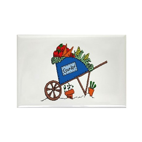 Garden Vegetable Cart Rectangle Magnet