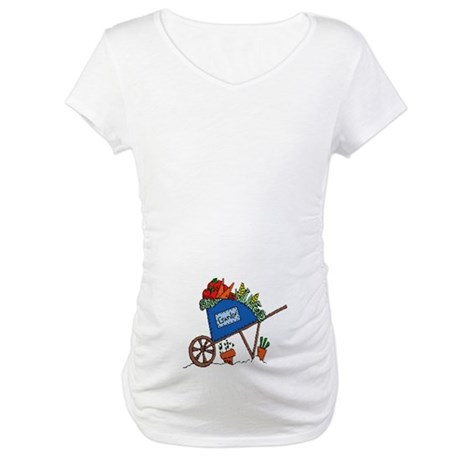 Garden Vegetable Cart Maternity T-Shirt