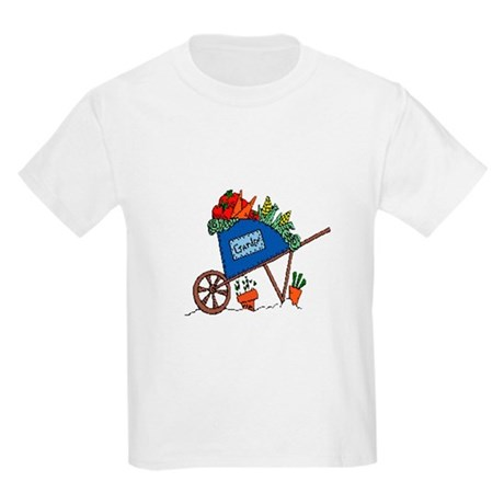 Garden Vegetable Cart Kids Light T-Shirt
