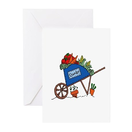 Garden Vegetable Cart Greeting Cards (Pk of 20)
