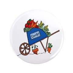 "Garden Vegetable Cart 3.5"" Button (100 pack)"