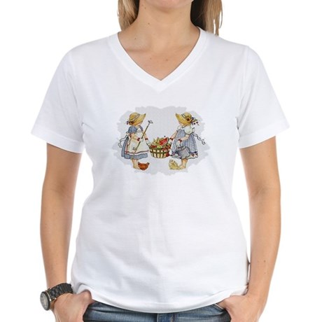 Girls Garden Women's V-Neck T-Shirt