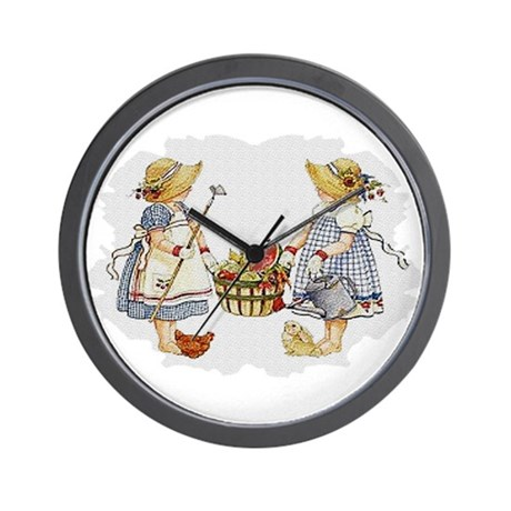 Girls Garden Wall Clock