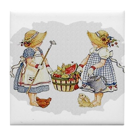Girls Garden Tile Coaster