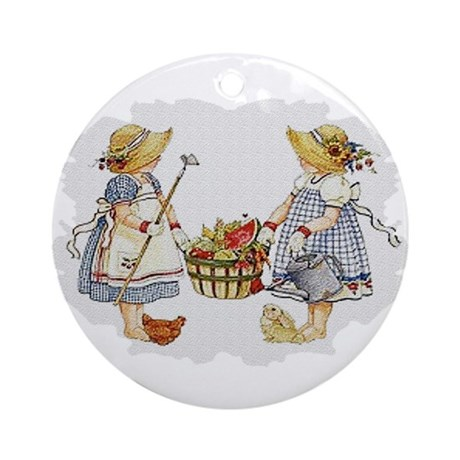 Girls Garden Ornament (Round)
