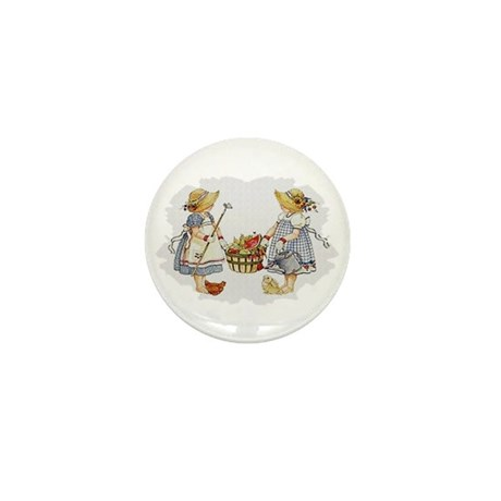 Girls Garden Mini Button (100 pack)