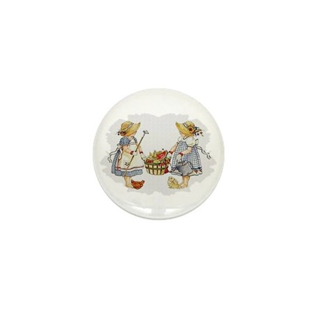 Girls Garden Mini Button