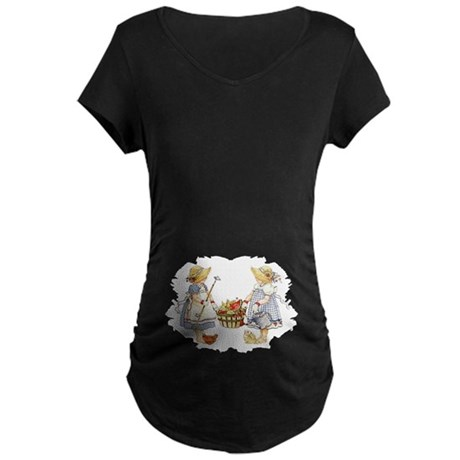 Girls Garden Maternity Dark T-Shirt