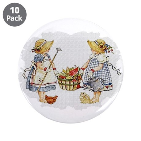 "Girls Garden 3.5"" Button (10 pack)"