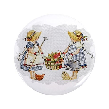 "Girls Garden 3.5"" Button"