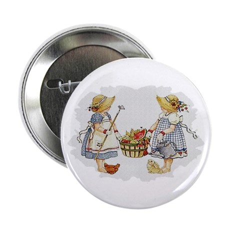 "Girls Garden 2.25"" Button"