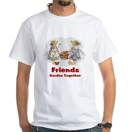 Friends Garden Together White T-Shirt