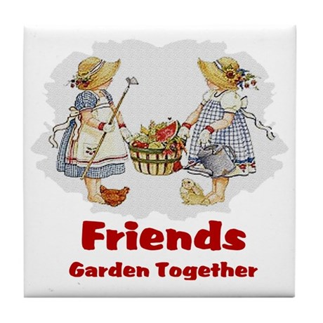Friends Garden Together Tile Coaster