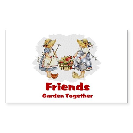 Friends Garden Together Rectangle Sticker