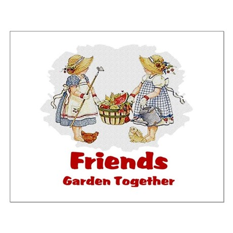 Friends Garden Together Small Poster