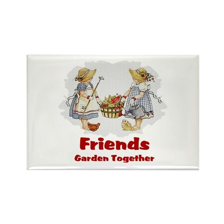 Friends Garden Together Rectangle Magnet (100 pack