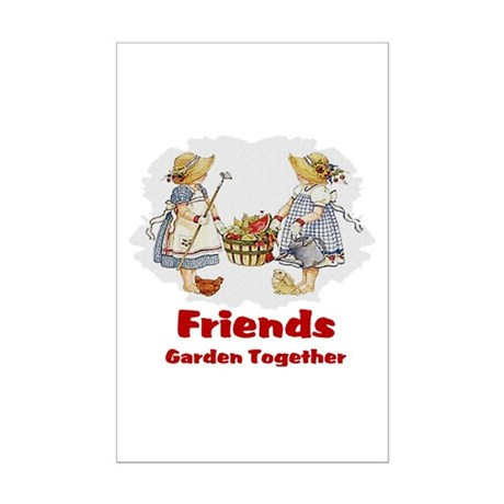 Friends Garden Together Mini Poster Print