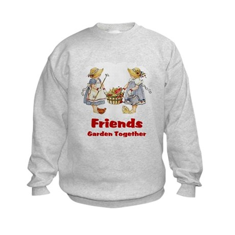 Friends Garden Together Kids Sweatshirt