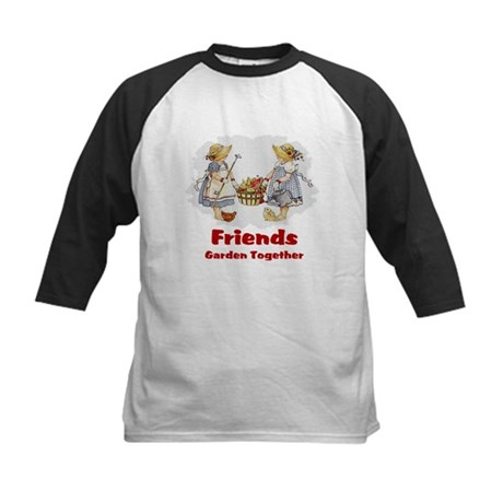 Friends Garden Together Kids Baseball Jersey