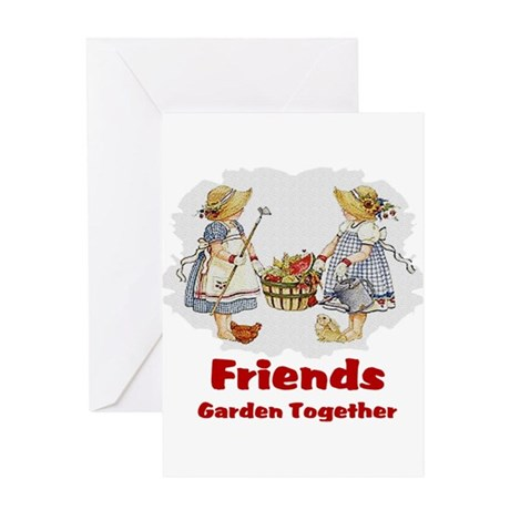 Friends Garden Together Greeting Card
