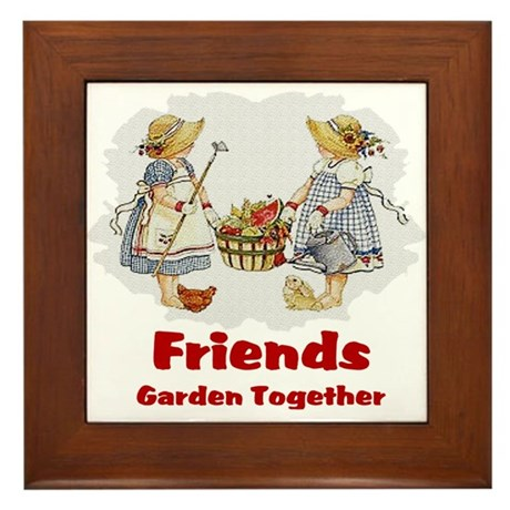 Friends Garden Together Framed Tile