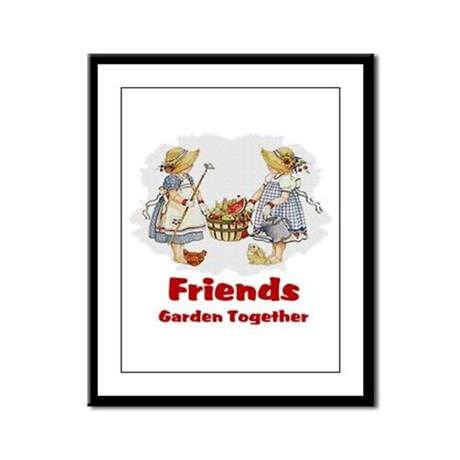 Friends Garden Together Framed Panel Print