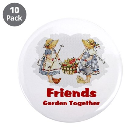 "Friends Garden Together 3.5"" Button (10 pack)"