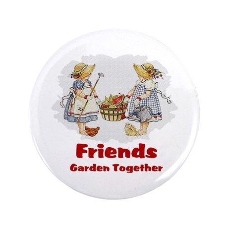 "Friends Garden Together 3.5"" Button (100 pack)"