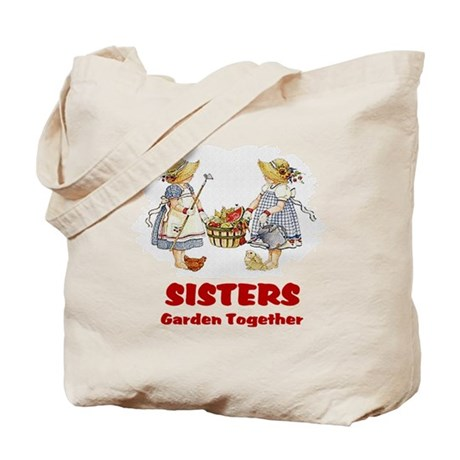 Sisters Garden Together Tote Bag