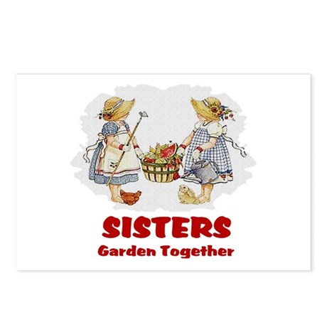 Sisters Garden Together Postcards (Package of 8)