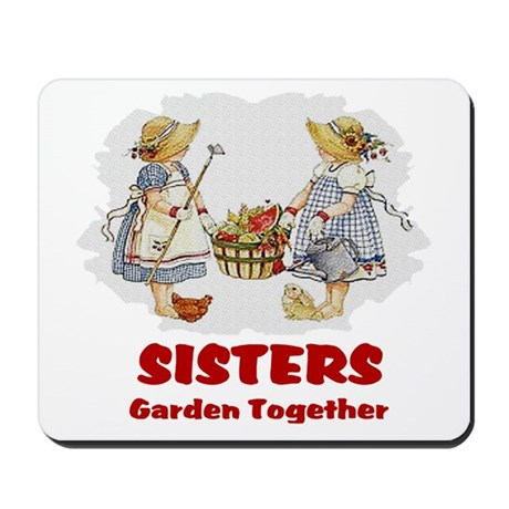 Sisters Garden Together Mousepad
