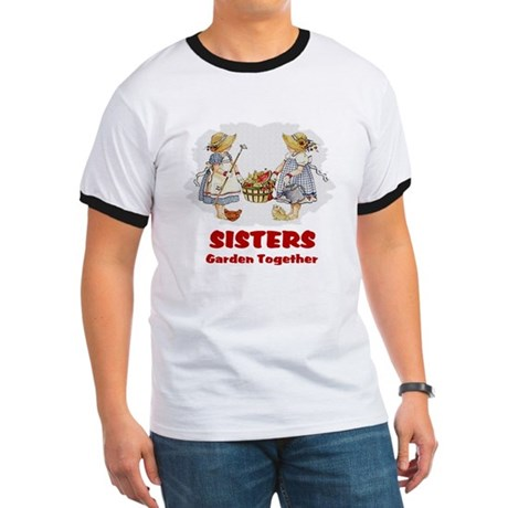 Sisters Garden Together Ringer T