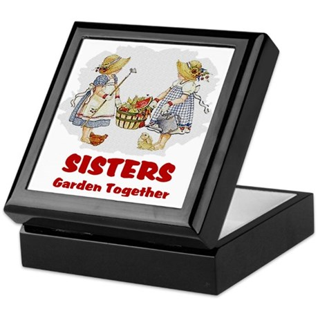 Sisters Garden Together Keepsake Box