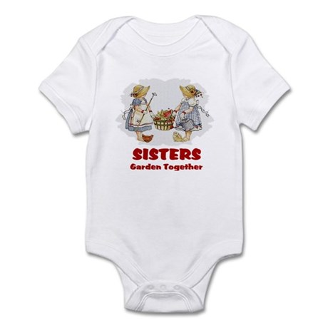 Sisters Garden Together Infant Bodysuit