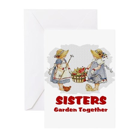 Sisters Garden Together Greeting Cards (Pk of 10)