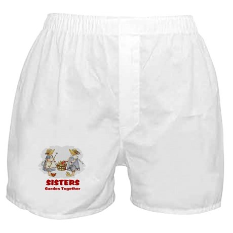 Sisters Garden Together Boxer Shorts