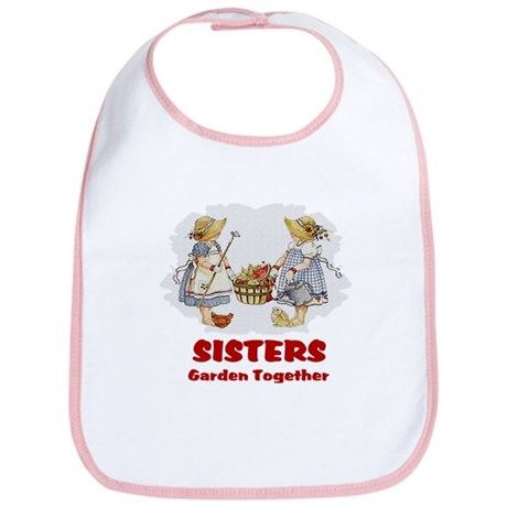 Sisters Garden Together Bib