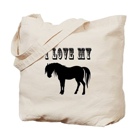 I Love My Pony Tote Bag