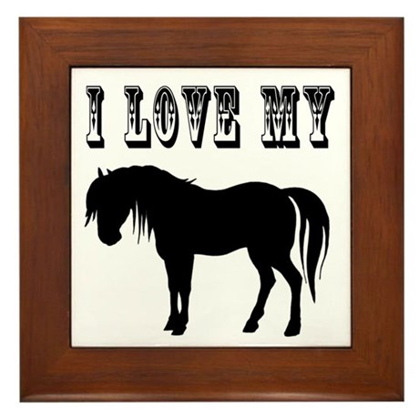 I Love My Pony Framed Tile