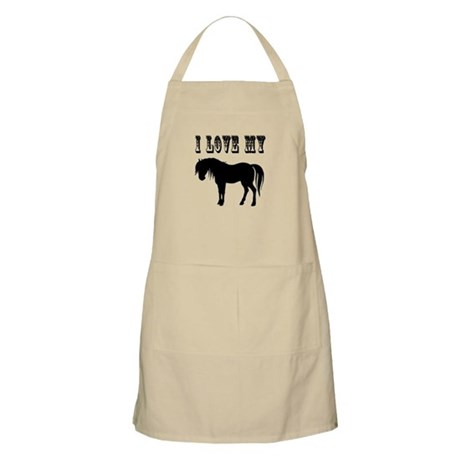 I Love My Pony BBQ Apron