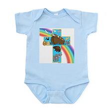 Blue Noah's Cross Infant Creeper